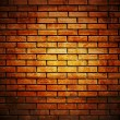 Brick wall with up spotlight - Zdjęcie stockowe
