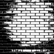 Black and white brick wall — Stock Photo