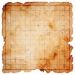 Blank pirate treasure map - Stock Photo