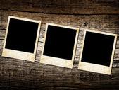 Grunge vinobraní foto rámečky na dřevo — Stock fotografie