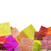 Fond grunge avec des carrés — Photo