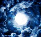 Moon in blue sky — Stock Photo