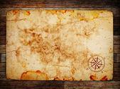 παλιό χάρτη θησαυρός — Φωτογραφία Αρχείου
