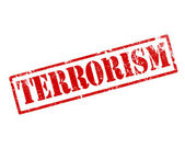 Grunge terrorism stamp — Stock Photo