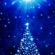 Christmas tree made of stars — Stock Photo