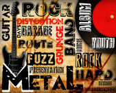 Rock Music poster — Stock Photo
