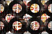 古いビニール レコード コレクション — ストック写真