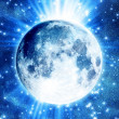 Stock Photo: Blue moon