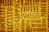 Old coffee background — Stock Photo