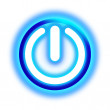 Glowing power button — Stock Photo #8454014