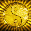 Gold yin yang symbol — Stock Photo