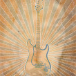 Vintage musical background with guitar — Stock Photo #8454507