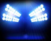 Blue spotlights background — Stock Photo