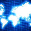 Stock Photo: World map in technology style