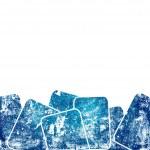 Grunge blue squares against white background — Stock Photo #8561417