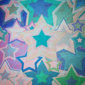 Illustration of dirty fabric with stars — Stock Photo