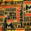 Rock Music poster - Foto Stock