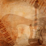 Grunge musical background — Stock Photo