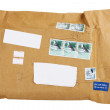 Air mail envelope with stamp — Stock Photo #8639548