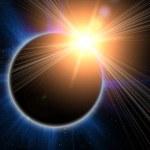 siyah bir arka plan üzerinde güneş tutulması — Stok fotoğraf