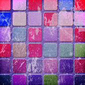 Grunge colourful squares — Stock Photo