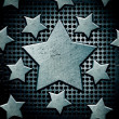 Background with steel stars — Stock Photo