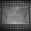 Grunge metal template — Stock Photo