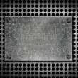 Grunge metal template - Stock Photo