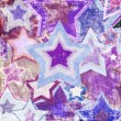 Illustration of dirty fabric with stars — Stock Photo #8954900
