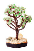 Tree from jewelry stones made from glass — Stock Photo