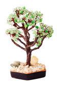 从由玻璃制成的首饰石头树 — 图库照片