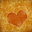Grunge art background with hearts — Stock Photo