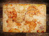Old treasure map — Photo