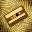 Retro Audio Cassette Tape on grunge — Stock Photo