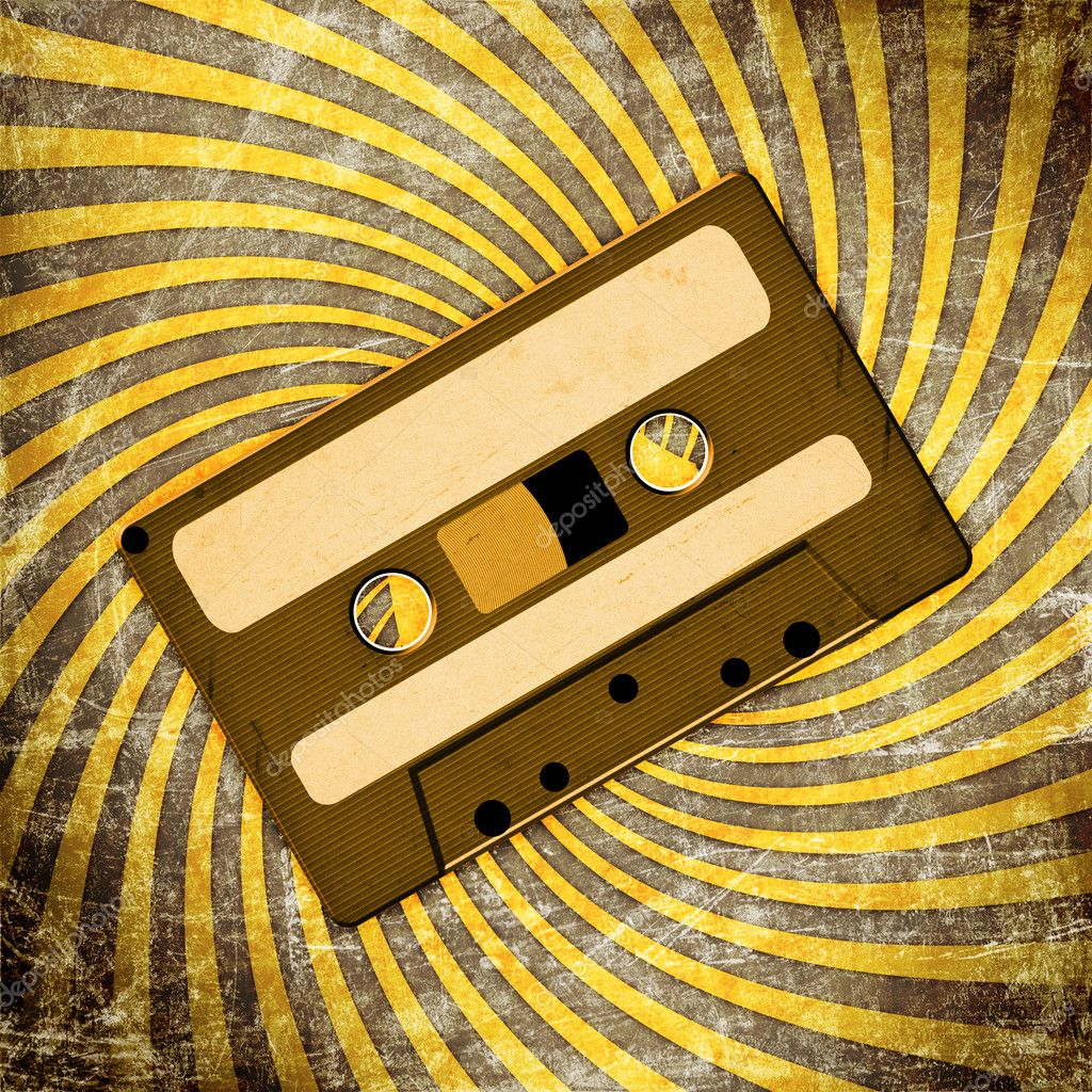 Retro Audio Cassette Tape on grunge — Stock Photo #9108556