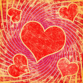 Red seamless pattern with grunge heart — Stock Photo