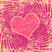 Pink seamless pattern with grunge heart — Stock Photo