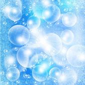 üzerinde mavi bir grunge hafif bir bubbles — Stok fotoğraf