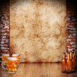 Beer background — Stock Photo