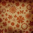 Grunge floral fabric texture — Stock Photo