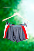 Grey and red men's boxer briefs — Stock Photo