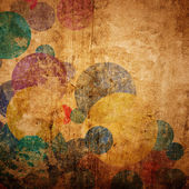 Grunge circles on the wall, abstract background — Stock Photo