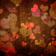 Stock Photo: Grunge texture with hearts
