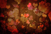 Grunge texture with hearts — Stock Photo