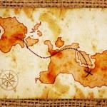 Old treasure map — Stock Photo #9482766