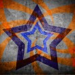 Abstract star on light grunge background — Stock Photo