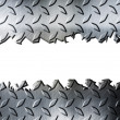Stock Photo: Cracked diamond metal plate