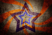 Abstract star on light grunge background — Stok fotoğraf