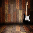 Royalty-Free Stock Photo: Electric guitar on the wooden room