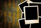 Blank photo frame on the grunge background — Stock Photo